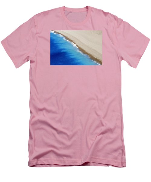 Men's T-Shirt (Slim Fit) featuring the photograph Sea And Sand by Wendy Wilton