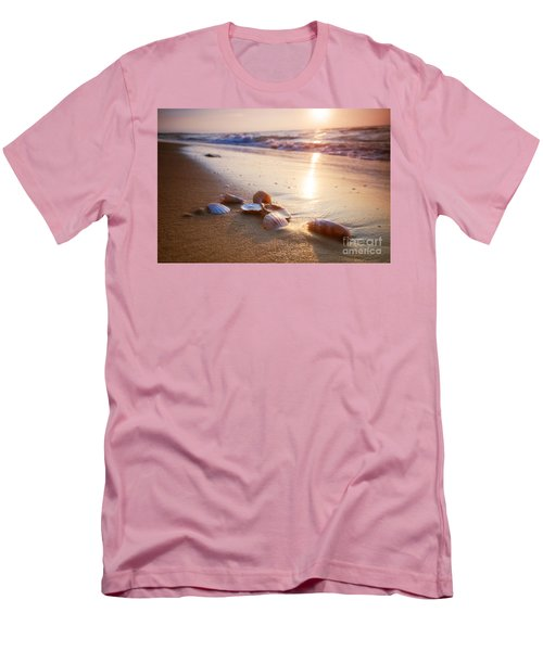 Sea Shells On Sand Men's T-Shirt (Athletic Fit)