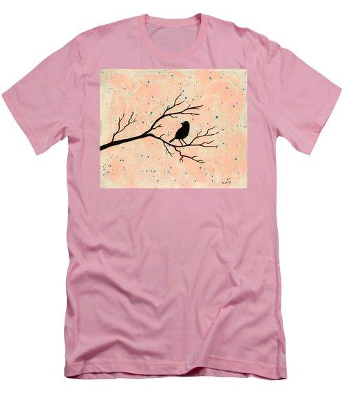 Silhouette Pink Men's T-Shirt (Slim Fit)