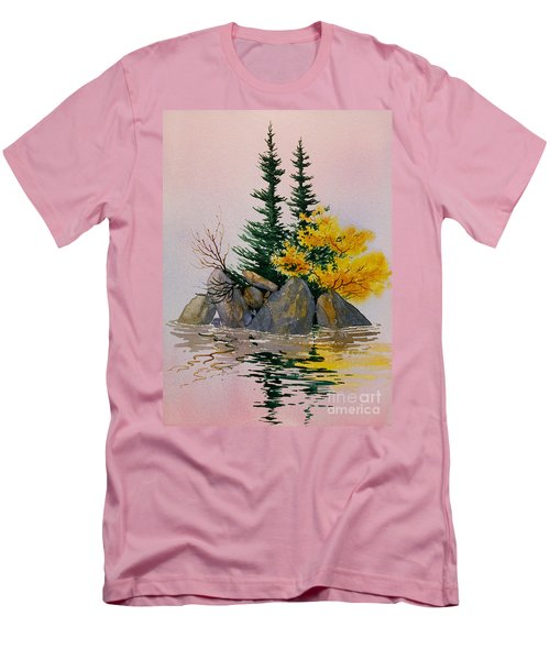 Men's T-Shirt (Slim Fit) featuring the painting Sitka Isle by Teresa Ascone