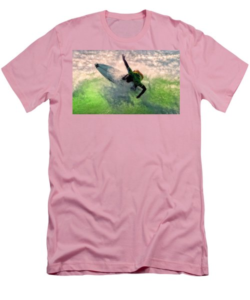 Men's T-Shirt (Slim Fit) featuring the painting Snap Turn by Michael Pickett