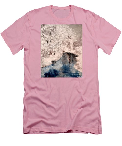 Men's T-Shirt (Slim Fit) featuring the painting Winter Wonderland by Denise Tomasura