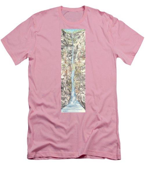 Snowy  Falls Men's T-Shirt (Athletic Fit)