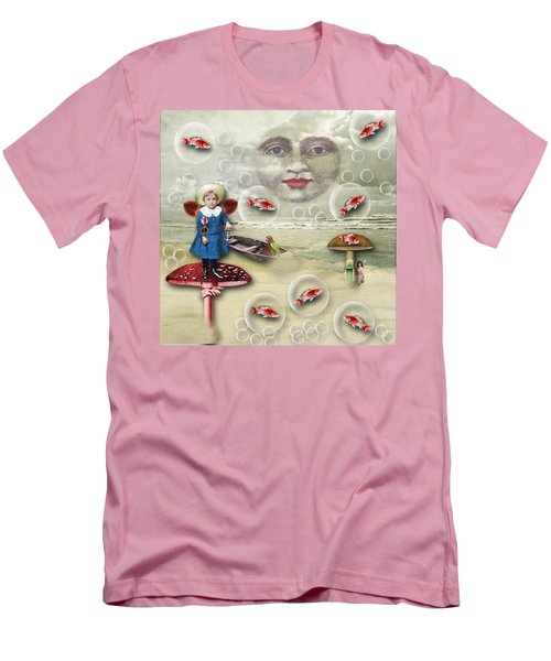 Something Fishy At The Shore Men's T-Shirt (Slim Fit) by Bellesouth Studio