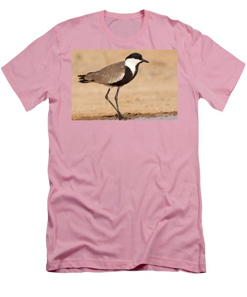 Spur-winged Lapwing Vanellus Spinosus Men's T-Shirt (Slim Fit) by Eyal Bartov