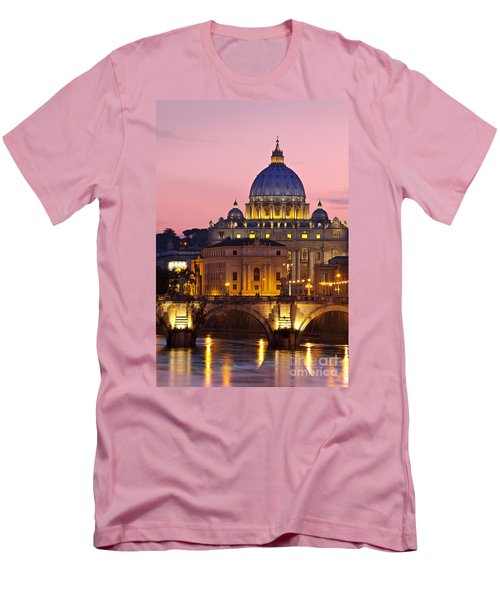 St Peters Basilica Men's T-Shirt (Slim Fit) by Brian Jannsen