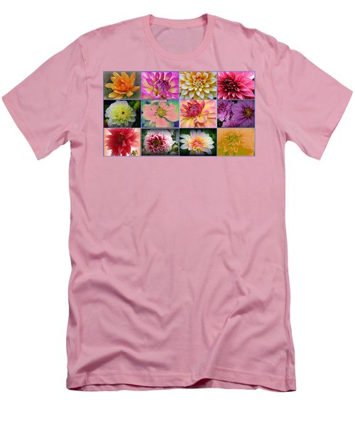 Summer Time Dahlias Men's T-Shirt (Slim Fit)