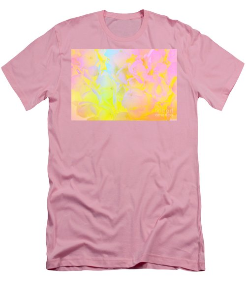 Men's T-Shirt (Slim Fit) featuring the photograph Summer Joy Abstract by Judy Palkimas