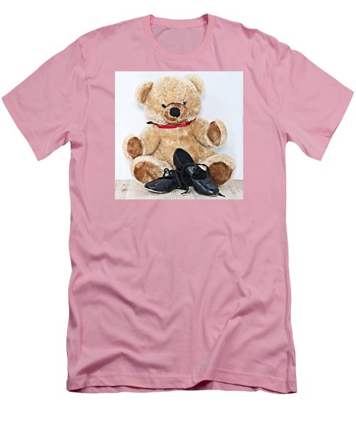 Tap Dance Shoes And Teddy Bear Dance Academy Mascot Men's T-Shirt (Slim Fit) by Pedro Cardona