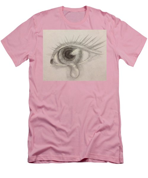 Tear Men's T-Shirt (Slim Fit) by Bozena Zajaczkowska