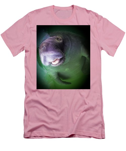 The Happy Manatee Men's T-Shirt (Slim Fit) by Karen Wiles