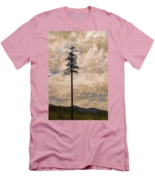 The Lone Survivor Stands In Tranquility Men's T-Shirt (Slim Fit) by Peggy Collins