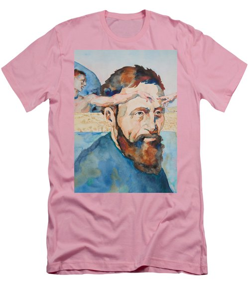 Men's T-Shirt (Slim Fit) featuring the painting The Mind Of Michelangelo by Michele Myers