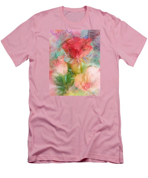 The Romance Of Roses Men's T-Shirt (Slim Fit) by Carla Parris