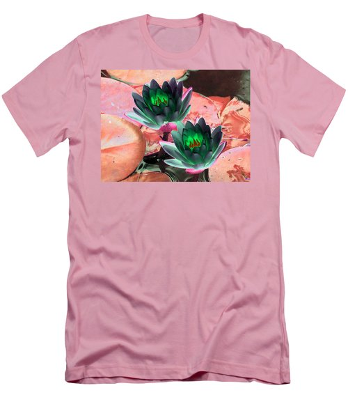 Men's T-Shirt (Slim Fit) featuring the photograph The Water Lilies Collection - Photopower 1120 by Pamela Critchlow