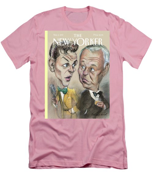 The Young Frank Sinatra Looking At The Old Frank Men's T-Shirt (Athletic Fit)
