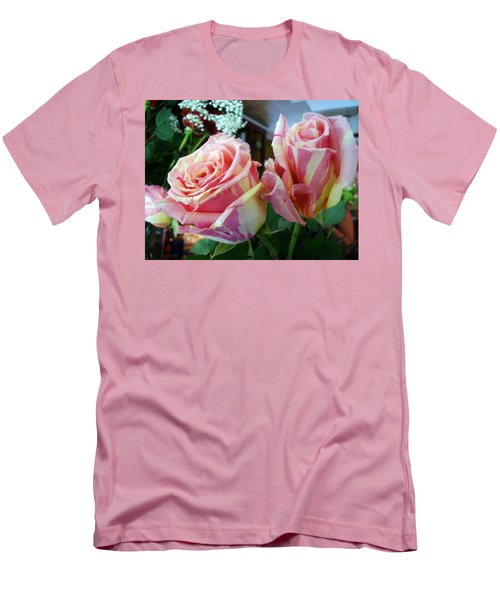 Tie Dye Roses Men's T-Shirt (Athletic Fit)