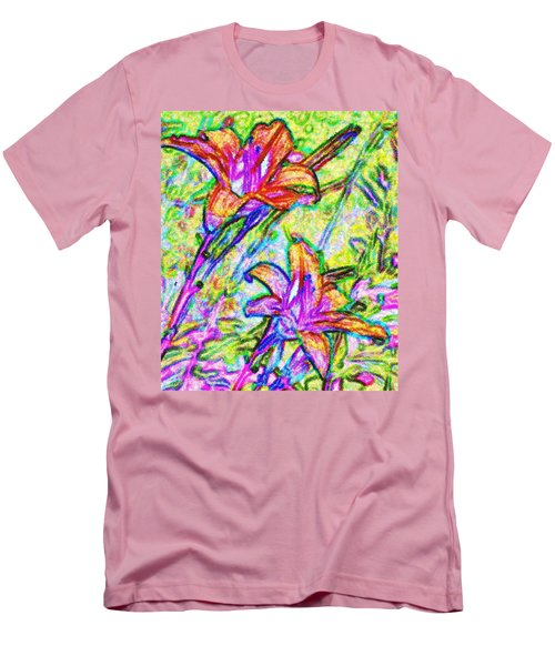 Tiger Lillies Men's T-Shirt (Slim Fit) by Ian  MacDonald