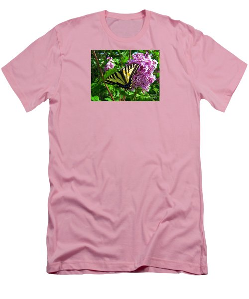 Men's T-Shirt (Slim Fit) featuring the photograph Tiger Swallowtail by Janice Westerberg