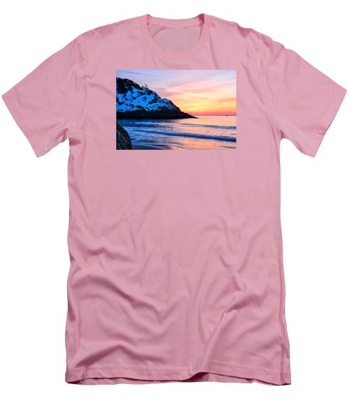 Touch Of Snow Singing Beach Men's T-Shirt (Slim Fit) by Michael Hubley
