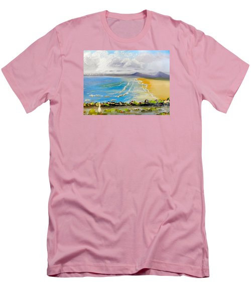 Towradgi Beach Men's T-Shirt (Slim Fit) by Pamela  Meredith