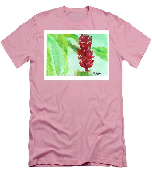 Tropical Flowers 2 Men's T-Shirt (Slim Fit) by C Sitton
