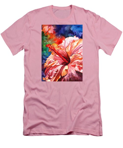 Tropical Pink Hibiscus Men's T-Shirt (Athletic Fit)