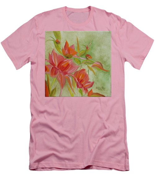 Tropical Splash Men's T-Shirt (Slim Fit) by Judith Rhue