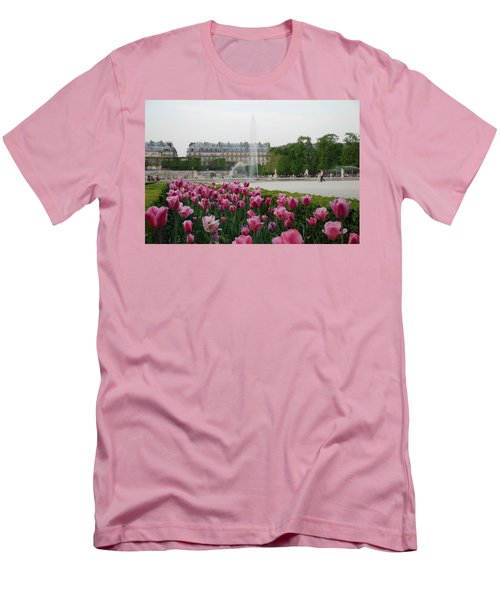 Men's T-Shirt (Slim Fit) featuring the photograph Tuileries Garden In Bloom by Jennifer Ancker
