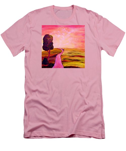 Men's T-Shirt (Slim Fit) featuring the painting Tuscan Skies ... An Impressionist View by Eloise Schneider
