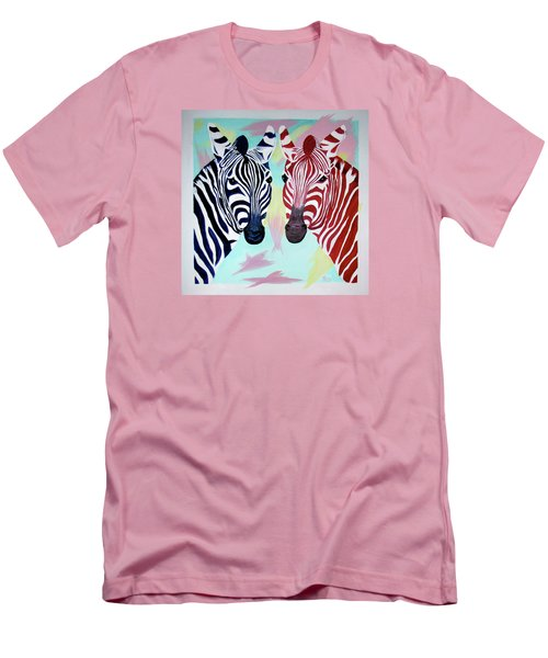 Men's T-Shirt (Slim Fit) featuring the painting Twin Zs by Phyllis Kaltenbach
