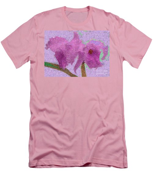 Two Hothouse Beauties Men's T-Shirt (Slim Fit) by Barbie Corbett-Newmin