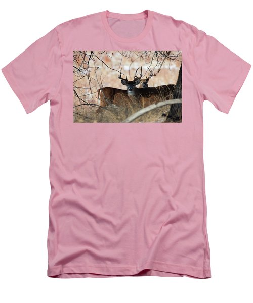 Men's T-Shirt (Slim Fit) featuring the photograph Two In The Bush by Jim Garrison