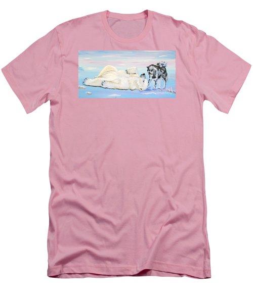 Unusual Buddies  Must Open Men's T-Shirt (Slim Fit) by Phyllis Kaltenbach