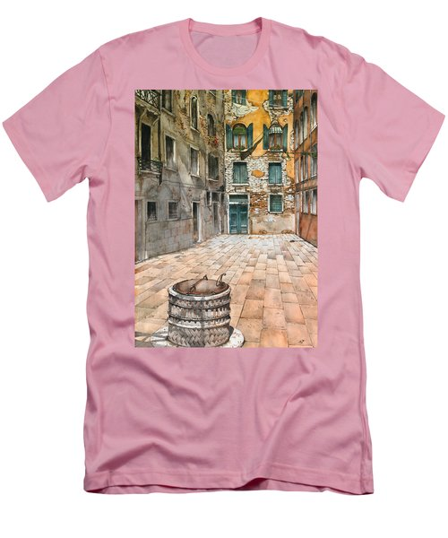 Venetian Courtyard 02 Elena Yakubovich Men's T-Shirt (Athletic Fit)