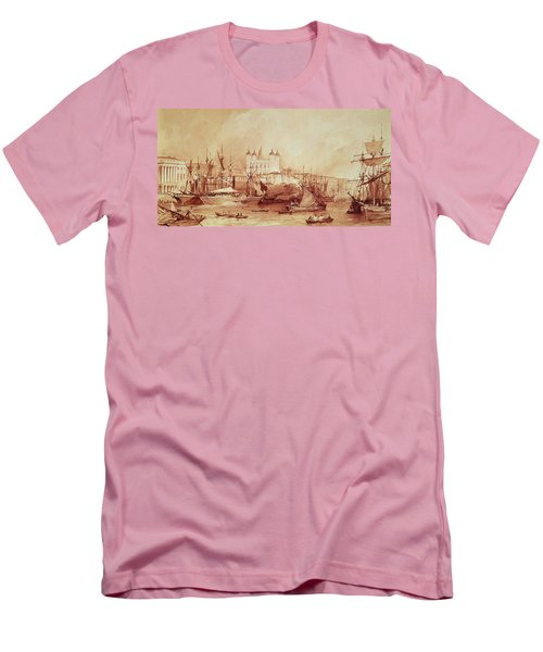 View Of The Tower Of London Men's T-Shirt (Slim Fit) by William Parrott