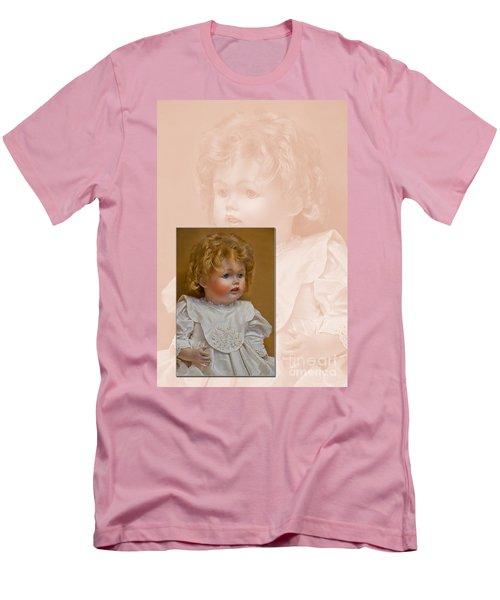 Vintage Doll Beauty Art Prints Men's T-Shirt (Slim Fit) by Valerie Garner