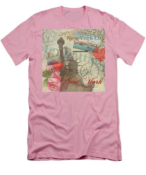 Vintage New York City Collage Men's T-Shirt (Athletic Fit)