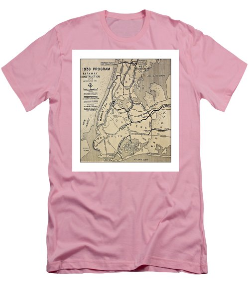 Vintage Newspaper Map Men's T-Shirt (Athletic Fit)