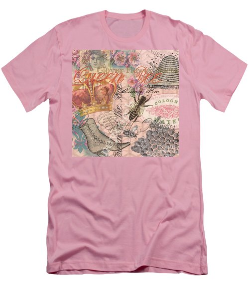 Vintage Queen Bee Collage  Men's T-Shirt (Athletic Fit)