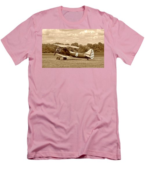 Men's T-Shirt (Slim Fit) featuring the photograph Waco Upf-7 by Jean Goodwin Brooks