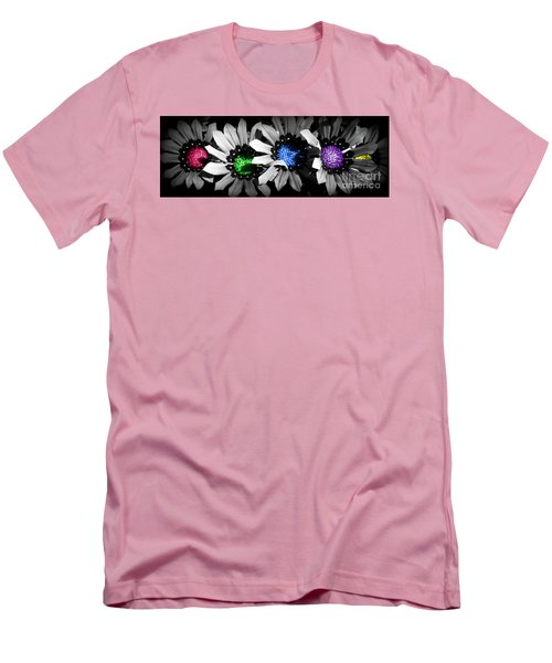 Colored Blind Men's T-Shirt (Slim Fit) by Janice Westerberg