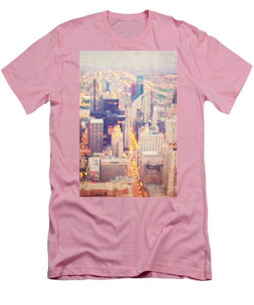 Windy City Lights - Chicago Men's T-Shirt (Athletic Fit)