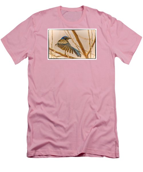 Men's T-Shirt (Slim Fit) featuring the photograph Winging It by Janis Knight