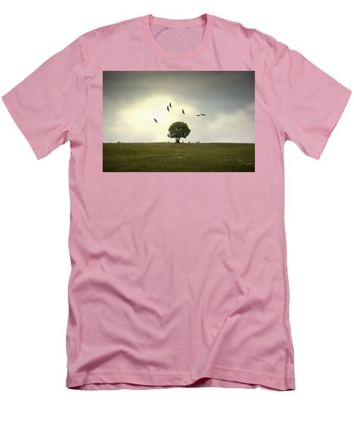 Wings Over The Tree Men's T-Shirt (Slim Fit) by Alfio Finocchiaro