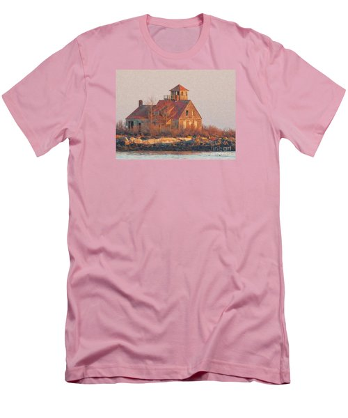 Wood Island Men's T-Shirt (Slim Fit) by Marcia Lee Jones