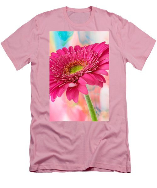 Gerbera Daisy Abstract Men's T-Shirt (Athletic Fit)