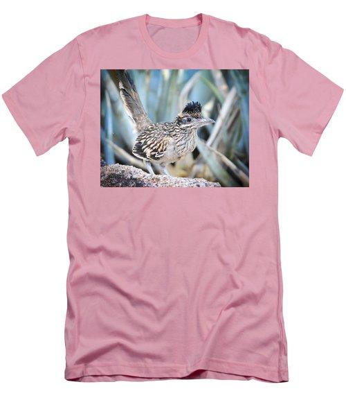 A Juvenile Greater Roadrunner  Men's T-Shirt (Slim Fit) by Saija  Lehtonen