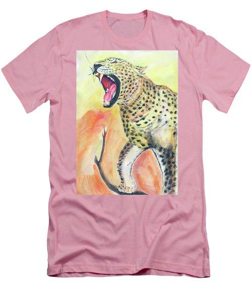 African Leopard Men's T-Shirt (Slim Fit)