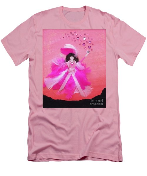 Men's T-Shirt (Slim Fit) featuring the painting Awareness by Alys Caviness-Gober